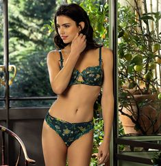 15a1aeb7569 Lise Charmel Launches Ecrin Nature Print Collection. Lise Charmel Launches  Ecrin Nature Print Collection - Lingerie Briefs ~ by Ellen Lewis