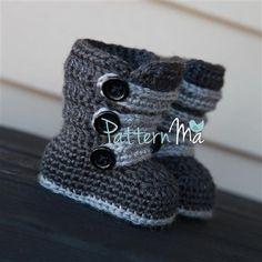 Crochet Baby Bootie Pattern Strappy 1