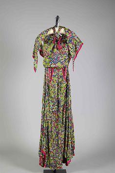 Evening dress Designer: Mme. Eta Hentz  (American, born Hungary) Manufacturer: Ren-Eta Gowns, Inc. Date: 1946