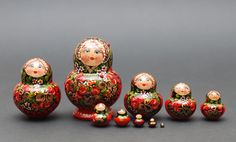 Russian Hohloma traditional nesting doll with by BestGiftIdeas, $59.90