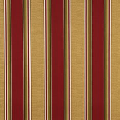 Wide Red, Green And Gold, Striped Outdoor, Indoor, Marine Upholstery Fabric By The Yard Contemporary Upholstery Fabric, Striped Upholstery Fabric, Burgundy And Gold, Green And Gold, Red Green, Automotive Upholstery, Furniture Upholstery, Diy Furniture, Outdoor Fabric