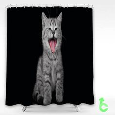 Cheap Cat cry kitty Shower Curtain