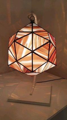 Geometric Glass Artwork and Glass Pendant Lighting Geometric Pendant Light, Broken Glass Art, Stained Glass Light, Glass Wall Lights, Mosaic Glass, Pendant Lamp, Lamp Light, Decoration, Blown Glass