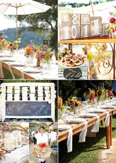 Lots of garden fresh florals, burlap and lace at this Santa Cruz Weddding / Vine Hill Winery by GillettPhoto.com