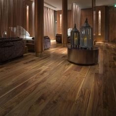 Gorgeous walnut flooring at Gleneagles Hotel | #flooringideas