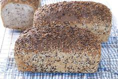 Grovbrød med kjerner og frø Den, Food And Drink, Bread, Baking, Bread Making, Patisserie, Backen, Breads, Sweets