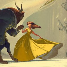 """8,875 Likes, 60 Comments - Cécile Carre (@carrececile) on Instagram: """"Close up ! #beautyandthebeast #disney #gallerynucleus #illustration"""""""