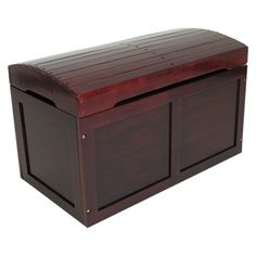 Cherry Finish Barrel Top Toy Chest by Badger Basket