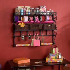Wildon Home ® Lynbar Wall Mount Craft Large Storage Rack with Baskets | Wayfair