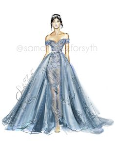 LOVE this couture gown. Follow fashion illustrator Samantha E. Forsyth on Instagram @samanthaeforsyth #Fashionillustrations |Be Inspirational ❥|Mz. Manerz: Being well dressed is a beautiful form of confidence, happiness & politeness
