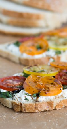 Heirloom Tomato and Burrata Toast: Is there a more perfect combination than fresh basil, heirloom tomatoes, balsamic vinegar and Burrata? This summertime snack is best enjoyed atop sliced California Goldminer Sourdough Bread.