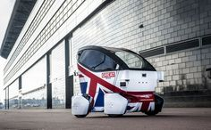 The UK is testing the Lutz Pathfinder Pod, a two-seater electric vehicle with a patriotic paint job, in Milton Keynes and Coventry: http://www.theverge.com/2015/2/11/8018449/uk-driverless-car-test-autonomous-lutz-pathfinder-pod