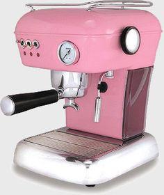 pink espresso machine