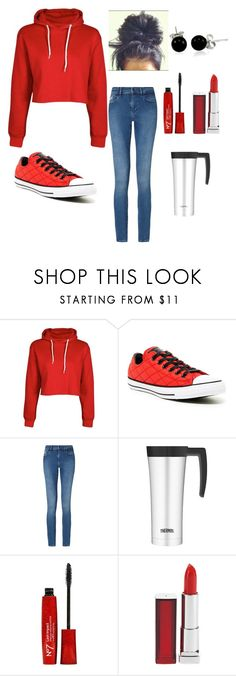 """""""Comfy Monday"""" by jilld727 ❤ liked on Polyvore featuring Converse, Calvin Klein, Thermos, Maybelline and Bling Jewelry"""