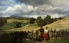 Trysting Place, Landscape with Cattle and Sheep by John Faed (Scottish 1819–1902)