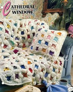 The cathedral window square! - This is amazing! crochet diagram of the square!