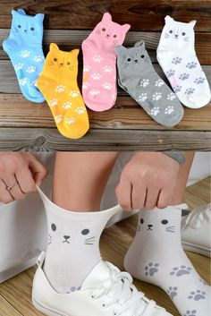 Currently BACKORDERED due to popular demand! Please allow about two weeks delivery in U.S.A. Your order may arrive after Christmas. Looking for a pair of soft and cozy socks that you and your cat will