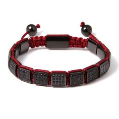 Shanghai Square Beaded Bracelet