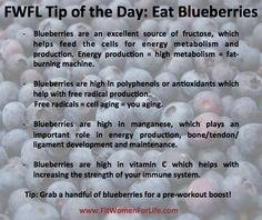 http://fitwomenforlife.com/ FWFL Tip of the Day: Eat Blueberries