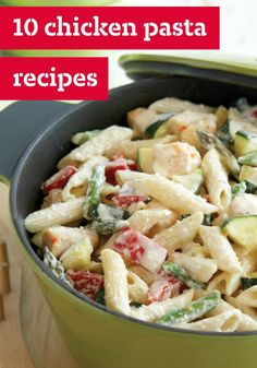 10 Chicken Pasta Recipes – These recipes were pulled together especially for the chicken fans! These chicken pastas dishes are perfect for making a memorable meal. Plus, they're quick, easy and great for a busy weeknight. Spaghetti Sundays just got a little tastier.