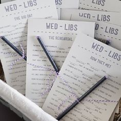 Download, Print and Cut out these FREE wedding mad-libs to entertain your guests!