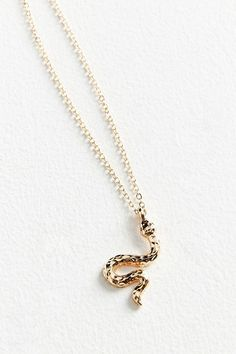 Slide View: 1: Simple Snake Charm Necklace
