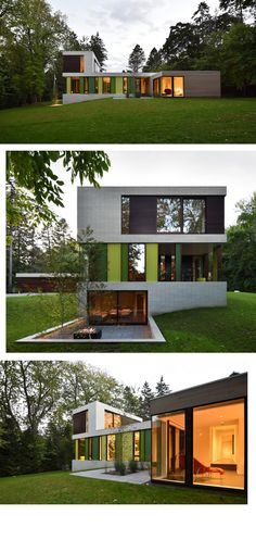 Modern private house by american architects of Johnsen Schmaling Architects
