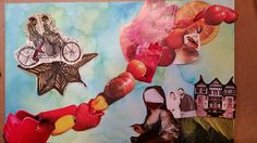 To glue or not to glue?  #workinprogress #art #TenaciousGoods #collage