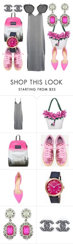 """""""Mano"""" by oliviaoistrach ❤ liked on Polyvore featuring Equipment, JanSport, Sam Edelman, Marc Jacobs, Chanel and Prada"""