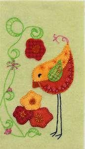 25+ bästa Wool applique idéerna på Pinterest   Ull ...