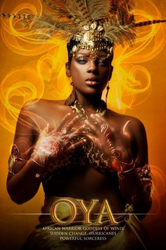 "OYA - Lady of Winds and Change  (Señora de los Vientos y el Cambio      ""Yoruba African Orishas"" Photography Series by James C. Lewis"