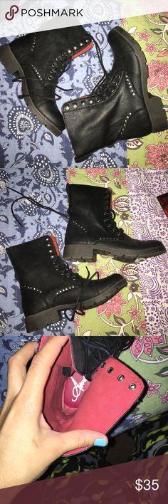 American Rag Combat Boots American Rag Black Combat Boots, Never Worn Still In Box American Rag Shoes Combat & Moto Boots