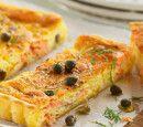 Smoked salmon & caper quiche
