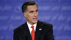 Oct. 3, 2012, photo, Republican presidential candidate Mitt Romney speaks during the first presidential debate at the University of Denver, in Denver. (AP Photo/Eric Gay)
