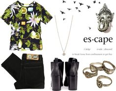 """escape to a place where good and evil are the same"" by floraxfauna ❤ liked on Polyvore"
