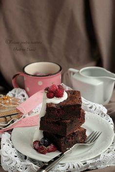 Brownie cu zmeura | Pasiune pentru bucatarie