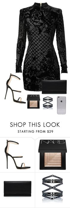 """Balmain"" by owl00 ❤ liked on Polyvore featuring Giuseppe Zanotti, NARS Cosmetics, Carré Royal and Eva Fehren"