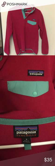 Pink Patagonia fleece Good condition! Pink, size small, very cozy fall and winter staple! Patagonia Tops Sweatshirts & Hoodies