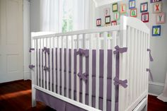 Solid Aubergine Purple Three-piece Crib Bedding Set by Carousel Designs.