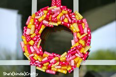 cute idea with ribbon