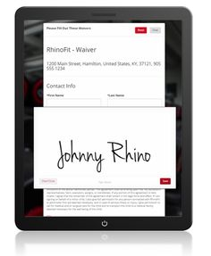 New eSign system in the RhinoFit gym management platform