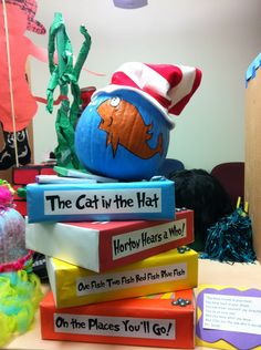 Love This Idea...Cat In Hat Pumpkin Idea
