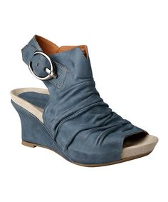 Look what I found on Moroccan Blue Bonaire Too Wedge - Women by Earthies  These shoes rock - great arch support, contoured insoles, comfy- good  quality ...