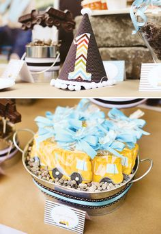 Construction First Birthday Party // Hostess with the Mostess® Leo Birthday, Baby Boy Birthday, Boy Birthday Parties, Birthday Ideas, Happy Birthday, Construction Birthday Parties, Construction Party, Goldfish Party, Kids Party Themes