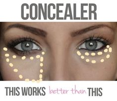 An easy way to look less tired? Use your concealer correctly. | 44 Lazy Girl Beauty Hacks To Try Right Now