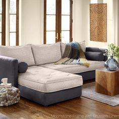 Eco Linen Sectional Sleeper Sofa