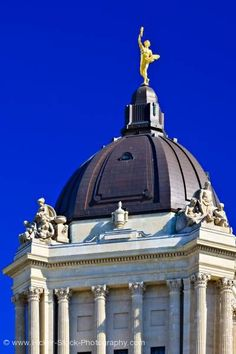 stock photo: Golden Boy Manitoba Legislative Building Dome City of Winnipeg Manitoba Canada The Golden Boy, I Am Canadian, O Canada, Roadside Attractions, The Province, Yearning, Beautiful Buildings, Statues, Vancouver