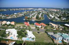 The canals and Tampa Bay in the city of Apollo Beach, FL