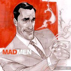 Mad Men - Don Draper by J. Scott Campbell *