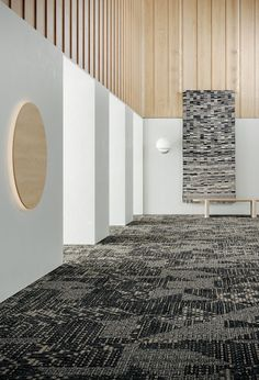 Shaw Contract Releases Forum: A Graphic and Textural Carpet Collection – Design Milk – shaw carpet Textured Carpet, Patterned Carpet, Shaw Carpet Tile, Shaw Contract, Contract Design, Hotel Corridor, 3d Architectural Visualization, Commercial, Small Area Rugs